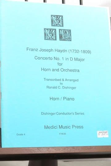 Haydn J - Concerto No 1 in D for Horn & Piano arr Dishinger R C